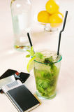 Mojito cocktail on a table Stock Image