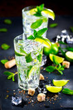 Mojito cocktail on a table Royalty Free Stock Photos