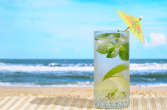 Mojito cocktail with umbrella Royalty Free Stock Image