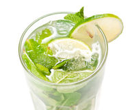 Mojito cocktail on white Royalty Free Stock Photography