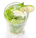 Mojito cocktail on white Stock Images