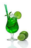 Mojito cocktail on white Royalty Free Stock Images