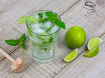 Mojito cocktail. On wooden background Stock Image