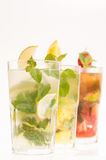 Mojito cocktails close up in a row Stock Photography