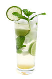 Mojito coctail in lang glas Stock Afbeelding