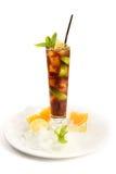 Mojito coctail med limefrukt och mintkaramellen Royaltyfria Foton