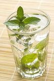 Mojito cool cuban cocktail ice lime mint Royalty Free Stock Photo
