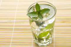 Mojito cool cuban cocktail ice lime mint Stock Images