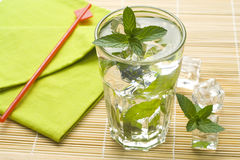 Mojito Cool Cuban Cocktail Ice Lime Mint Royalty Free Stock Photography