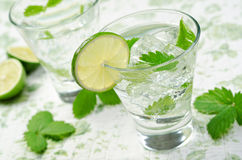 Mojito. A cool, refreshing mojito with lime and mint Royalty Free Stock Photo