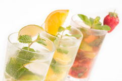 Mojito Cocktails in a row Stock Image