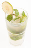 Fresh lime Mojito cocktail close up Stock Images