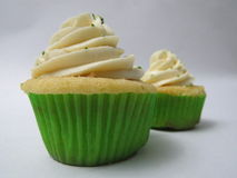 Mojito Cupcake. S, based drink, on white background Royalty Free Stock Image