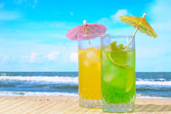 Mojito and Daiquiri cocktails Stock Photo