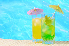 Mojito and Daiquiri cocktails royalty free stock photos