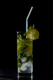 Mojito in darkness Stock Photo