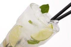 Mojito della bevanda lunga del cocktail Fotografie Stock