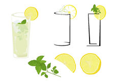 Mojito do cocktail ilustração stock