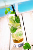 Mojito Drink. Standing on a bridge near the pacific sea. For tropical Cocktail concepts. More beverages in my portofolio Stock Photos