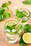 Mojito drink cocktail on the table Royalty Free Stock Photography