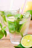 Mojito drink cocktail on the table Stock Photography