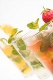 Variatie drie van dichte omhooggaand van de Cocktail Mojito Royalty-vrije Stock Afbeelding