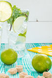 Mojito en verres avec des glaçons Images stock