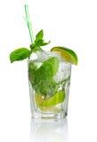 mojito för mint för alkoholcoctail ny isolerad Royaltyfri Fotografi
