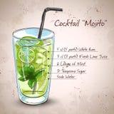 Mojito frisches Cocktail vektor abbildung