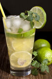 Mojito with fruit lime  and ice. Stock Images