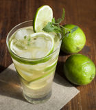 Mojito with fruit lime and ice. Stock Image