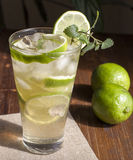 Mojito with fruit lime Royalty Free Stock Photos