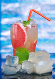 Mojito grapefruit  cocktai Royalty Free Stock Images