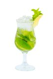 Mojito green cocktail isolated on white background Stock Photo