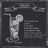 Mojito. Hand drawn illustration of cocktail. Stock Photo