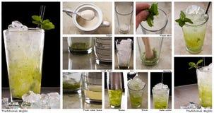 Mojito Herstellung Lizenzfreies Stockfoto
