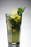Mojito with ice in a sweaty glass Royalty Free Stock Photo
