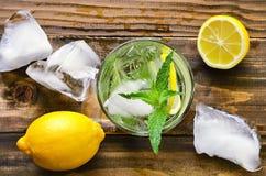 Mojito. Iced lemon mojito with mint royalty free stock photos