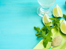 Mojito ingredients and copy space Stock Images