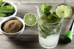 Mojito with ingredients II royalty free stock images
