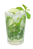 Mojito isolated on a white. Background Royalty Free Stock Photos