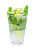 Mojito isolated on a white. Background Royalty Free Stock Photo