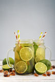 Mojito in jars with handle Royalty Free Stock Photos