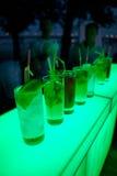 Mojito koktajl na barze Zdjęcie Stock