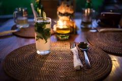 Mojito koktajl na stole Obraz Royalty Free