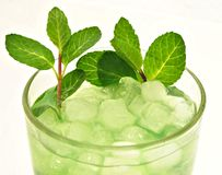 Mojito with lime Stock Image