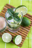 Mojito Lime Drink Cocktail Overhead Stock Images