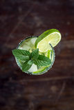 Mojito Lime Drink Cocktail Overhead Stock Photo