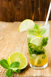 Mojito lime drink cocktail Stock Image
