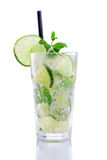 Mojito with lime and mint Royalty Free Stock Photography